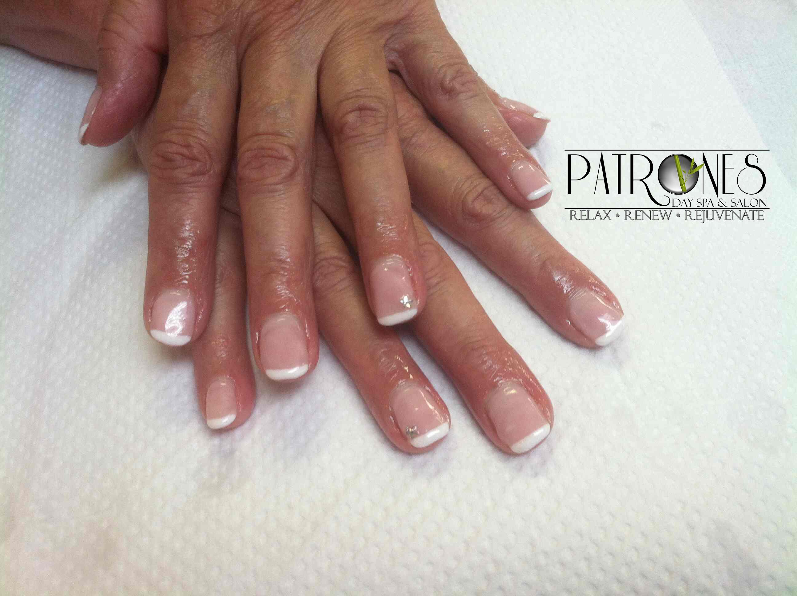Shoshana Gel Nails Overlay with Shellac French Manicure | Jackson MI