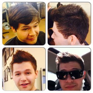 Mariah Mckenzie mens hair cut trendy style