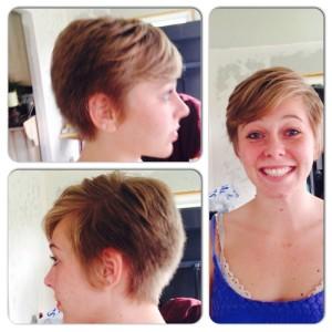 Mariah Mckenzie women's short hair cut pixie